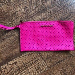 Michael Kors Saffiano Leather Wristlet